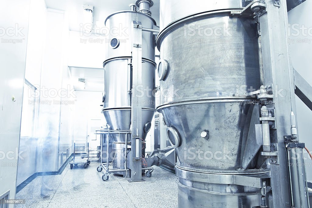 pharmaceutical factory equipment working royalty-free stock photo
