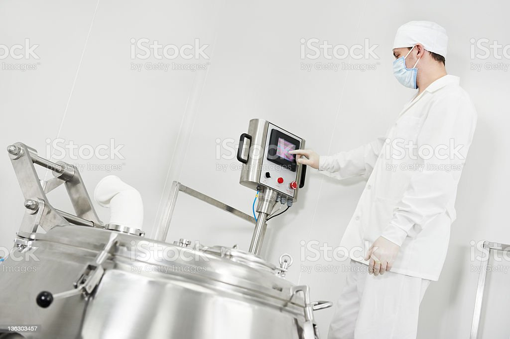 pharmaceutical factory worker royalty-free stock photo