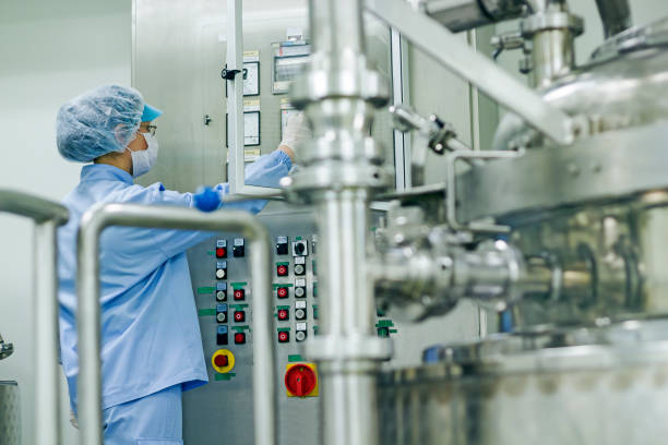 Pharmaceutical Industry Worker at Work stock photo