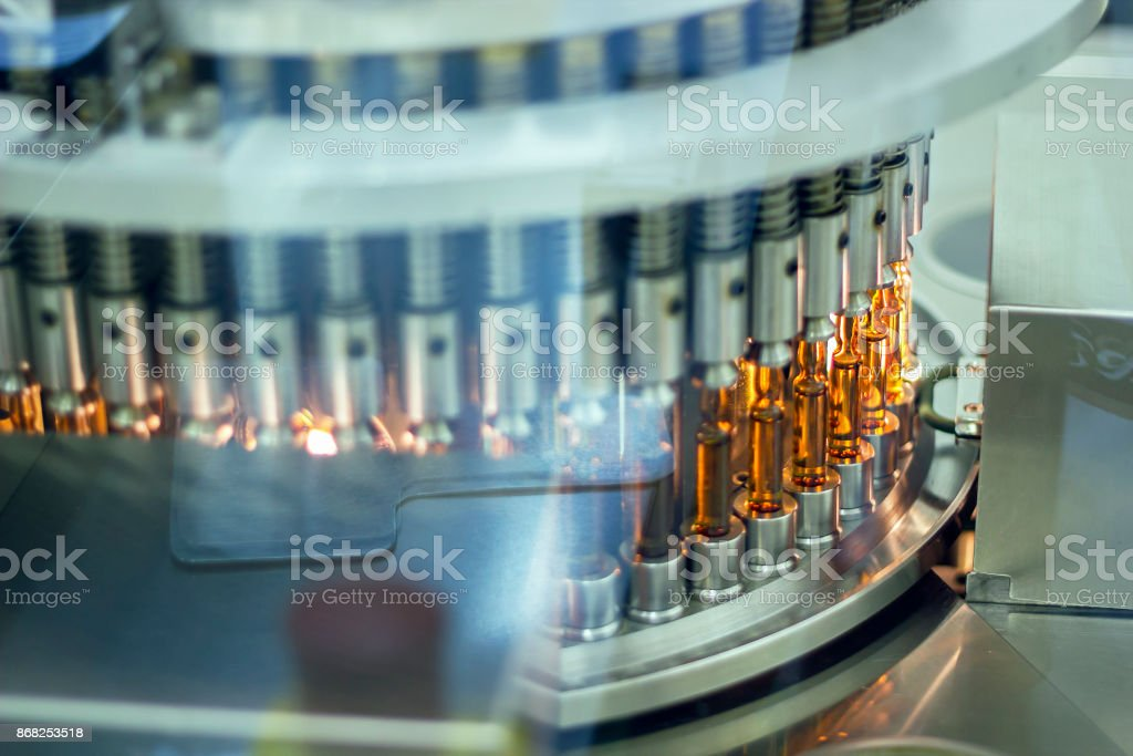 Pharmaceutical Optical Ampule Inspection Machine stock photo