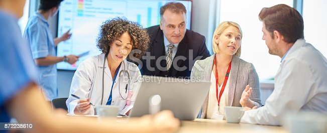 istock pharmaceutical presentation to medical team 872238610