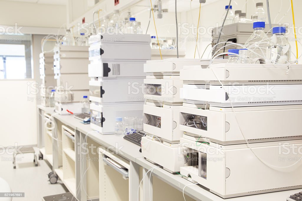 Pharmaceutical research lab stock photo