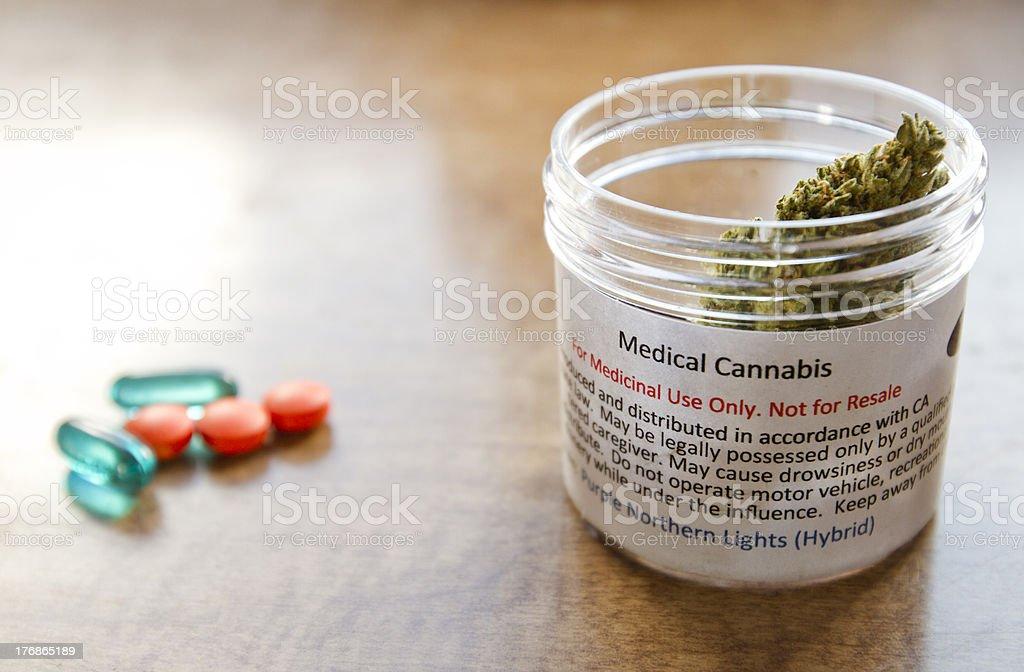 Pharmaceutical vs Medical Marijuana stock photo