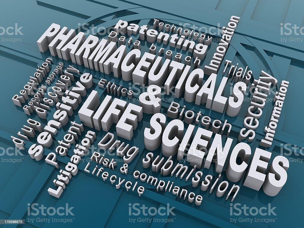 Pharmaceuticals & life sciences royalty-free stock photo
