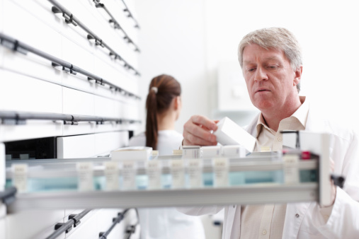 Pharmacist On Duty Stock Photo - Download Image Now