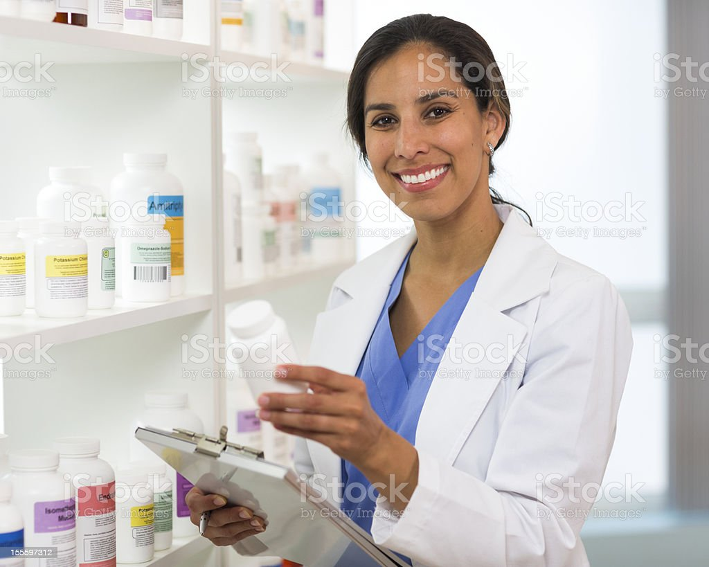 Pharmacist with Clipboard stock photo