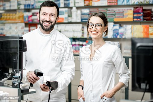 istock Pharmacists working in the pharmacy store 950296946