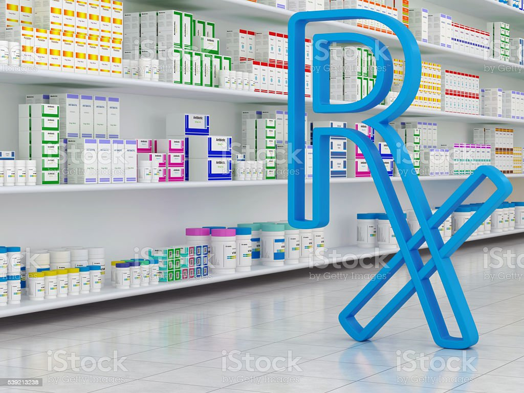 Pharmacy and Rx Symbol stock photo