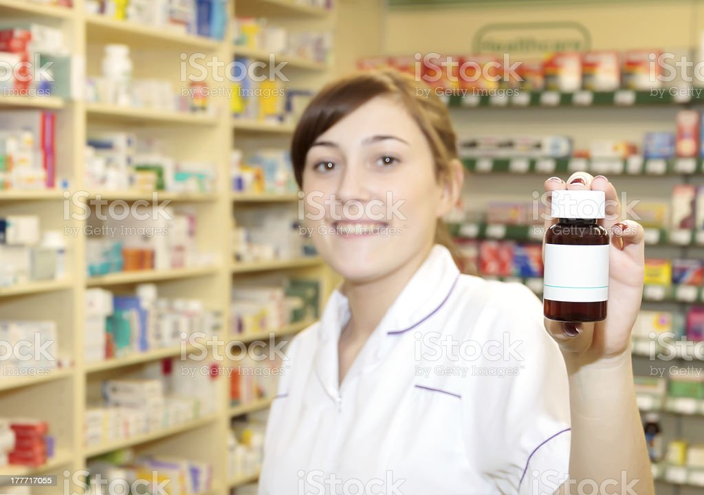 Pharmacy Assistant Smiling royalty-free stock photo