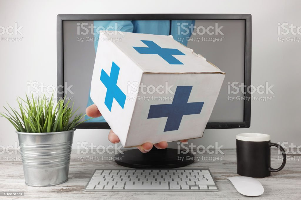 Pharmacy Express Delivery Online stock photo