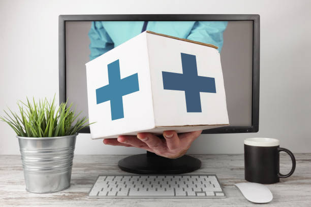 Pharmacy Express Delivery Online - foto stock