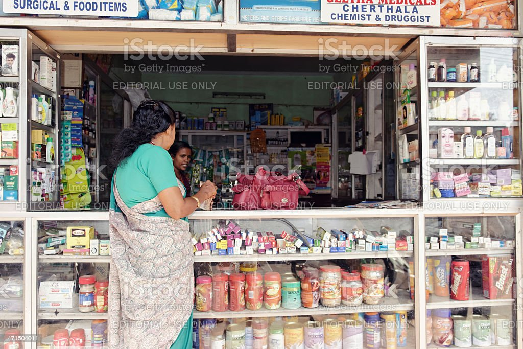 Pharmacy in Kerala royalty-free stock photo