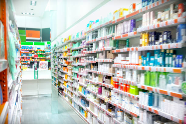 pharmacy interior - pharmacy stock pictures, royalty-free photos & images