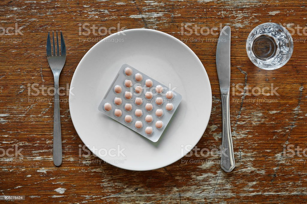 pharmacy on a plate food supplement and medicine