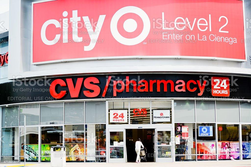 CVS Pharmacy on La Cienega Boulevard stock photo