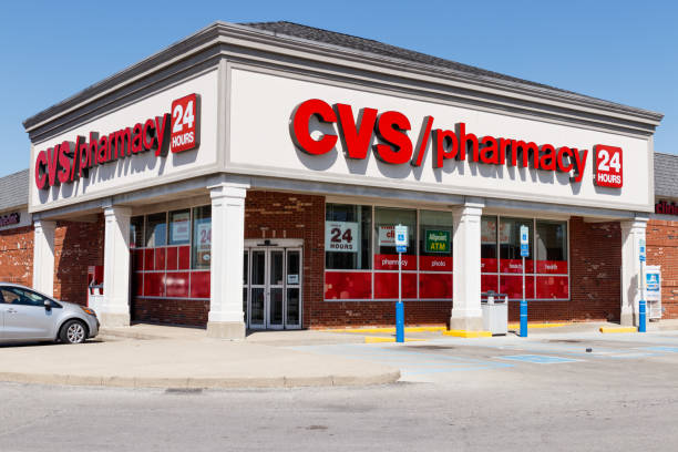 CVS Pharmacy Retail Location. CVS last week started selling CBD in eight states II stock photo