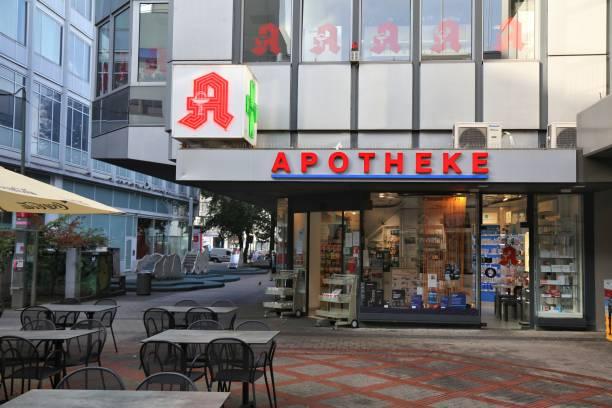 Pharmacy shop in Germany stock photo