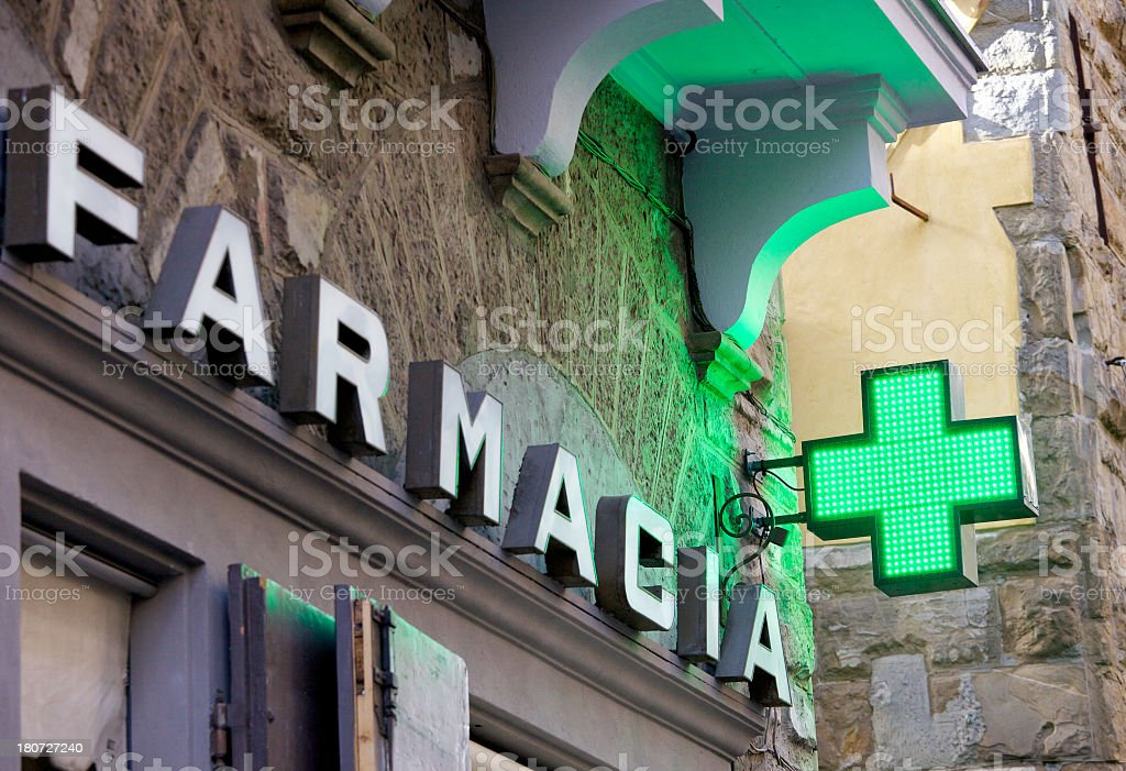 Pharmacy Sign In Florence stock photo