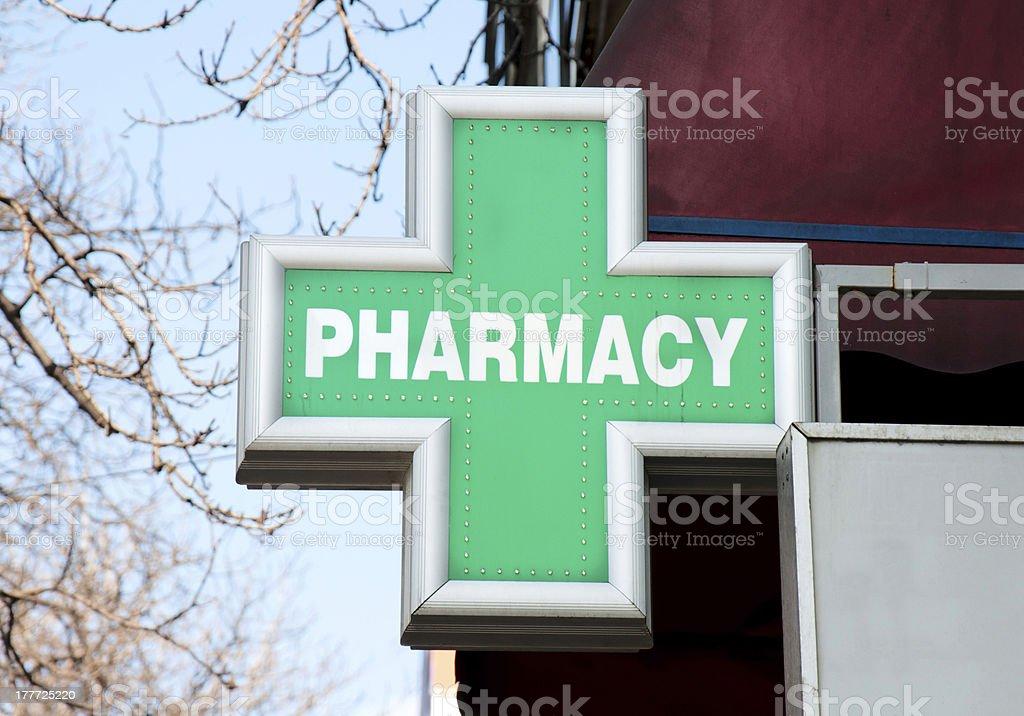 Pharmacy sign stock photo