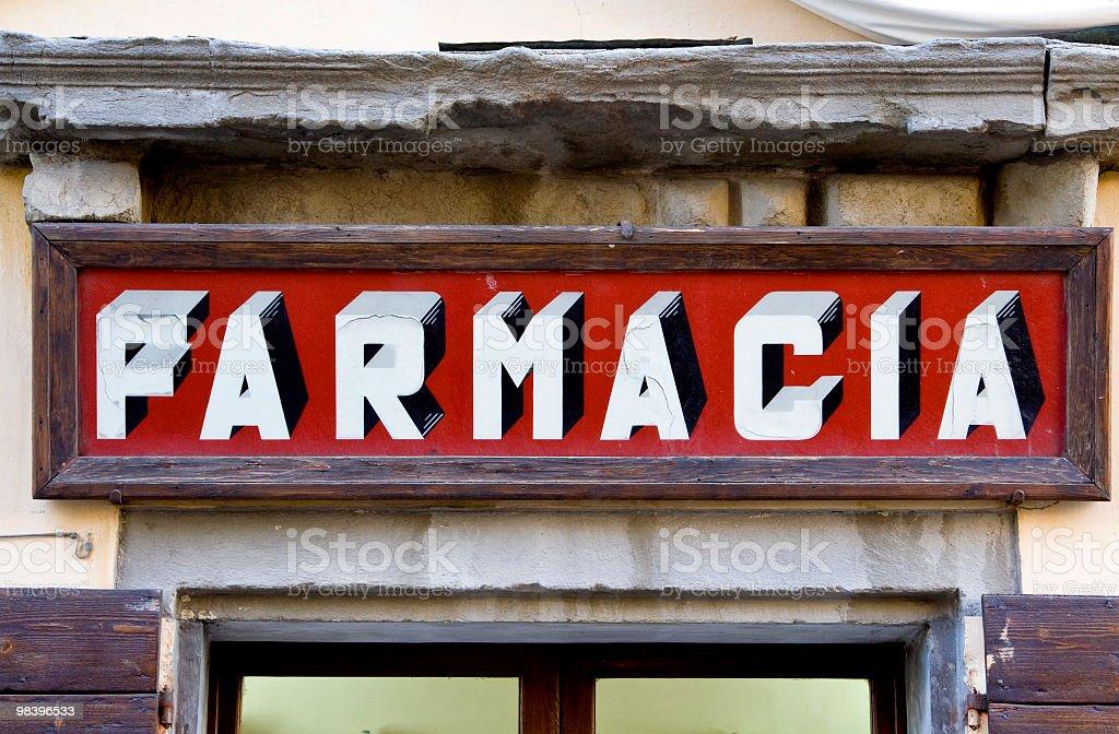 Segnale di farmacia foto stock royalty-free
