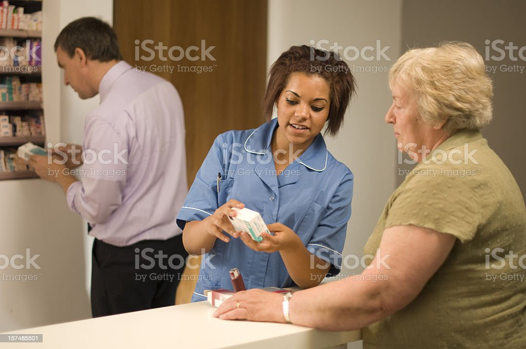 pharmcist assistant royalty-free stock photo