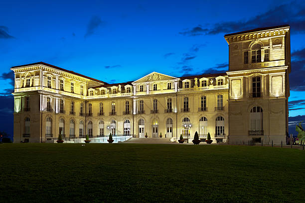 Pharo Palace Marseille stock photo