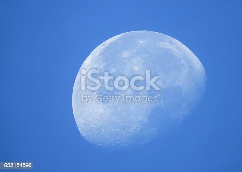 Phase of the white moon in daytime.