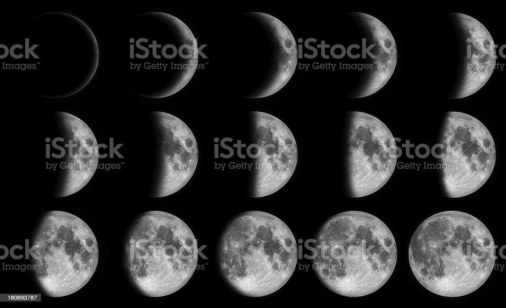 Phases of the moon stok fotoğrafı