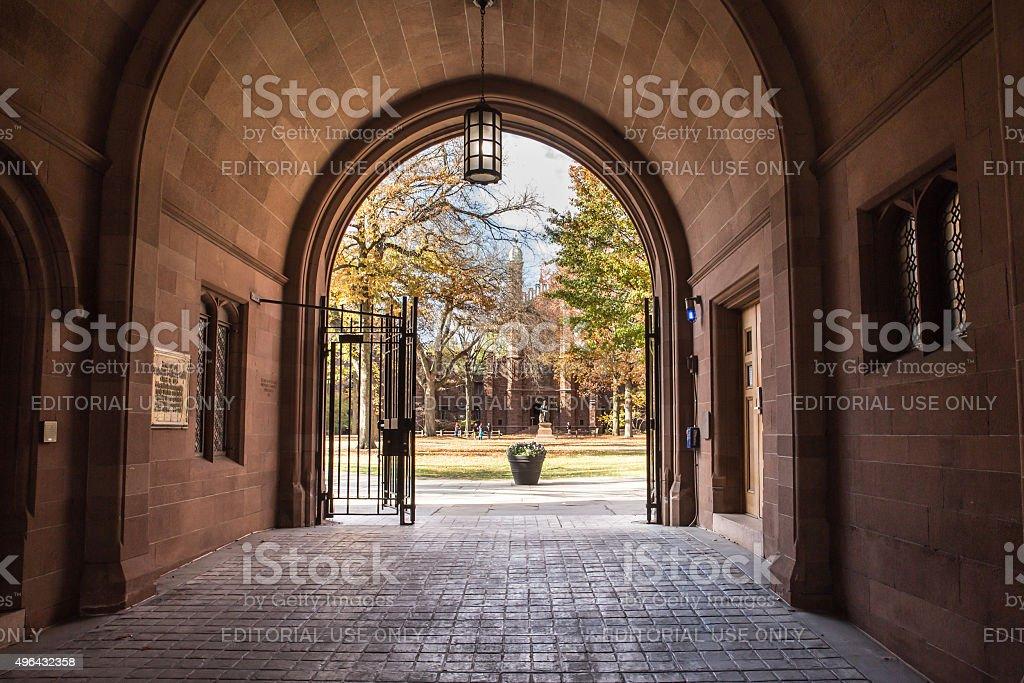 Phelps Gate Yale University stock photo