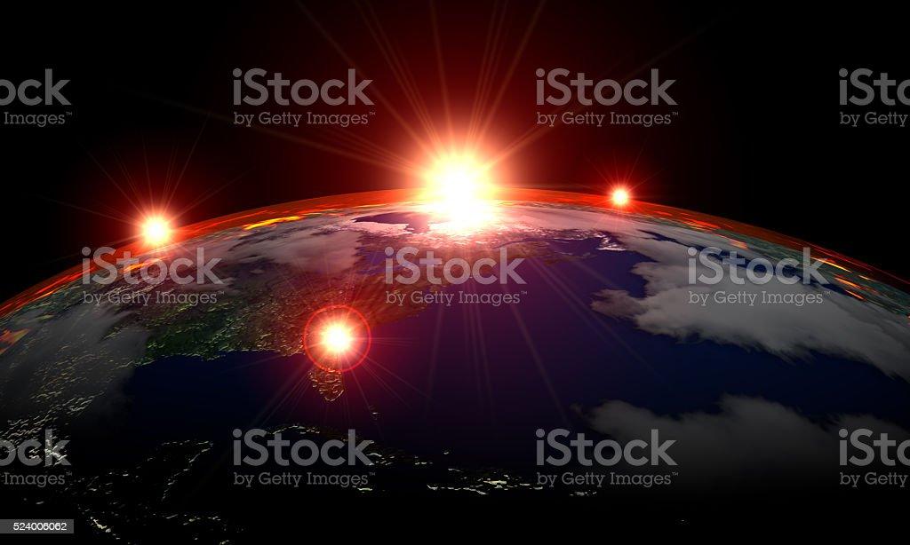 UFO Phenomenon on Atmosphere stock photo