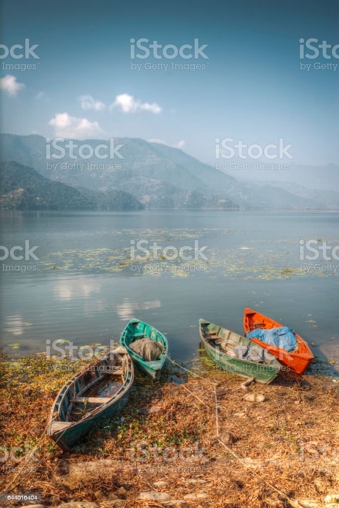 Phewa Lake stock photo