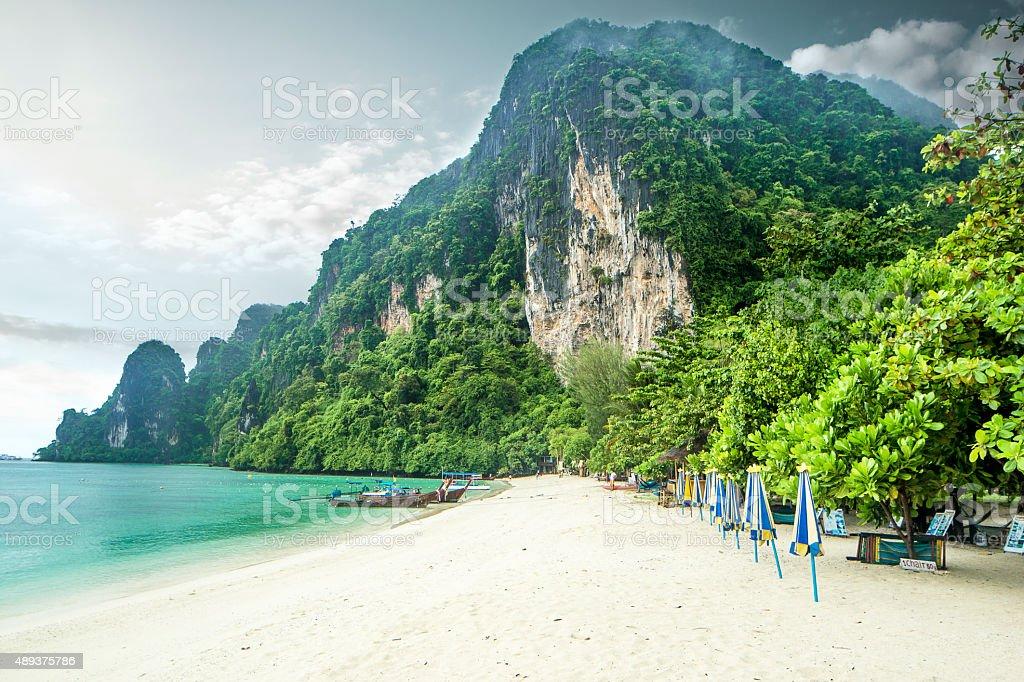 phi phi island beach stock photo