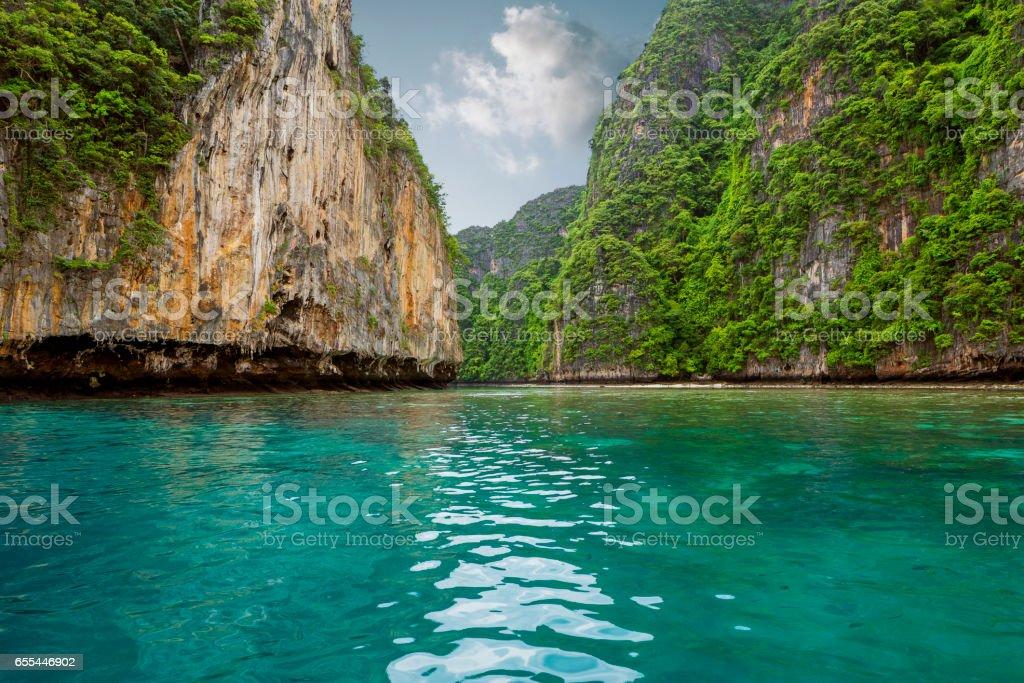 Phi Phi island in Thailand stock photo