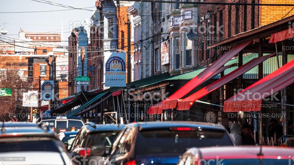 Philadelphia - 9th Street Italian Market stock photo