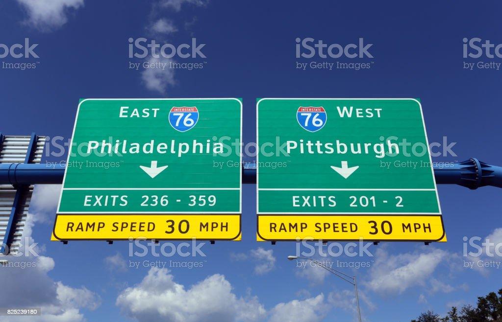 Philadelphia and Pittsburgh Pennsylvania stock photo