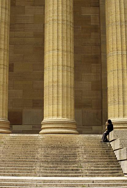Philadelphia Art Museum, columns & steps. stock photo