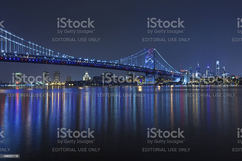 Philadelphia at Night stock photo