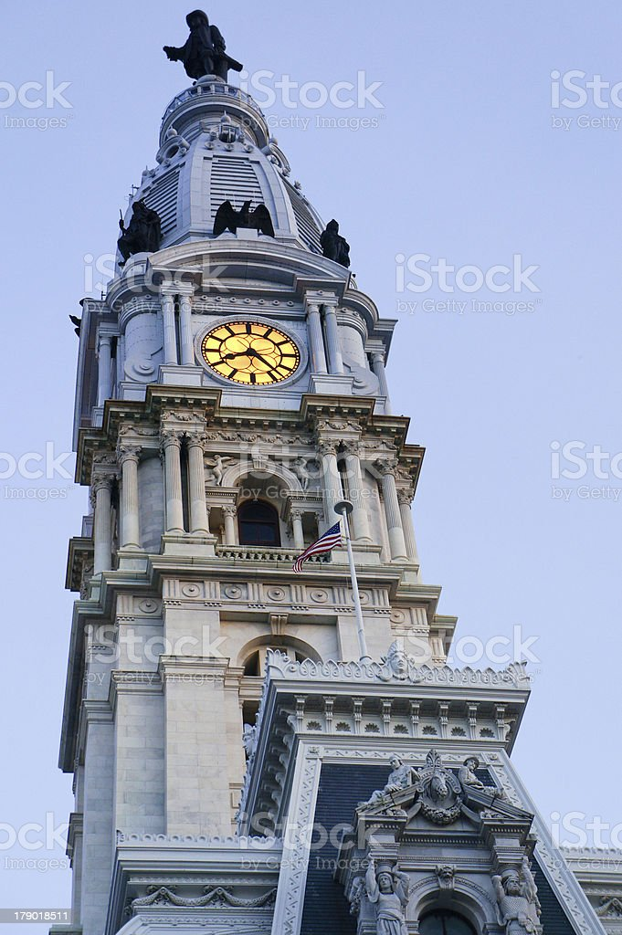 Philadelphia City Hall royalty-free stock photo