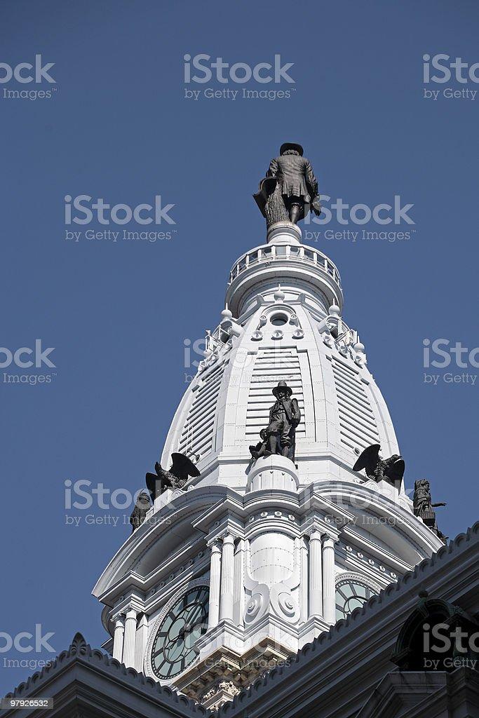 Philadelphia City Hall royalty-free stock photo