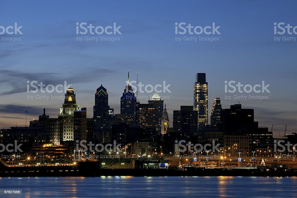 Philadelphia Cityscape at Twilight royalty-free stock photo