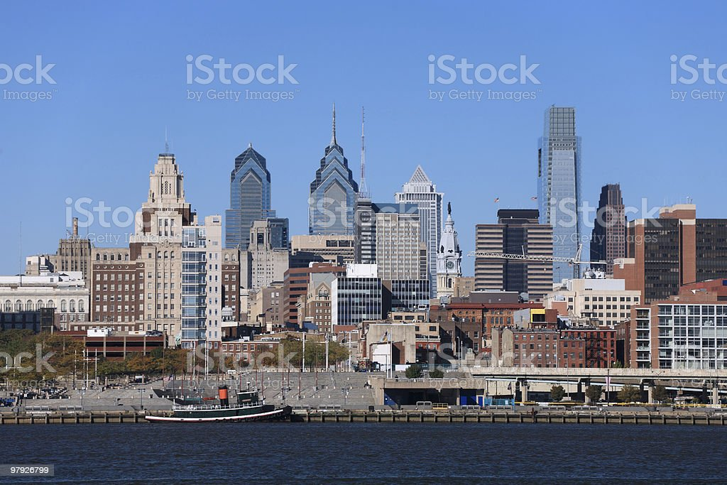 Philadelphia Cityscape, Medium View royalty-free stock photo