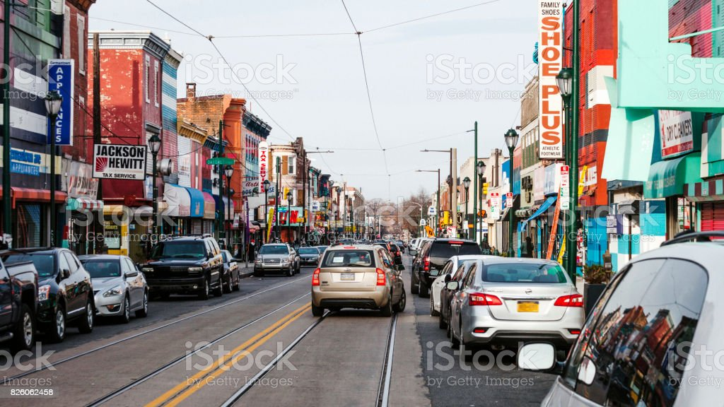Philadelphia - Colourful Germantown Avenue stock photo