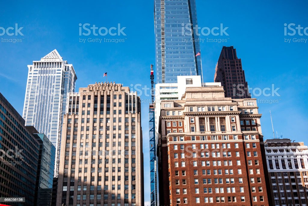 Philadelphia downtown buildings. foto stock royalty-free