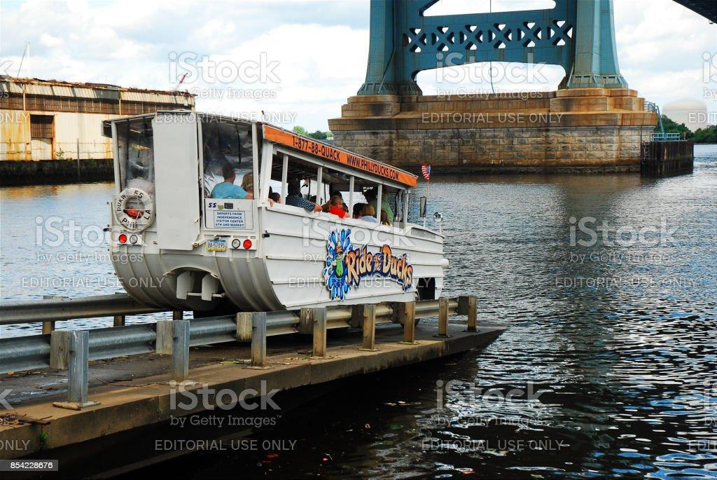 Philadelphia Duck Mobile stock photo