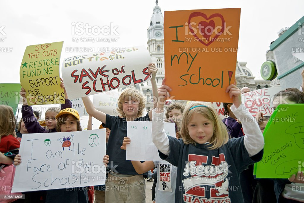 Philadelphia Education Funding Protests royalty-free stock photo