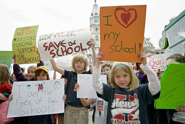 Philadelphia Education Funding Protests stock photo