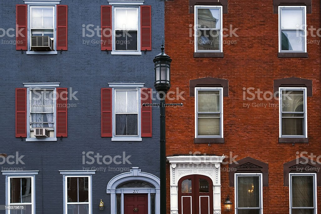Philadelphia houses stock photo