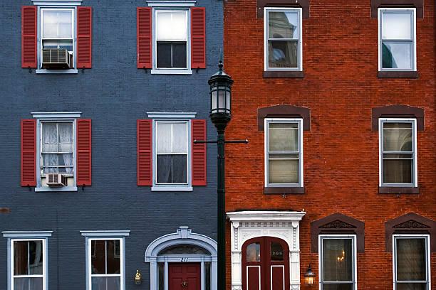 Philadelphia houses stock photo