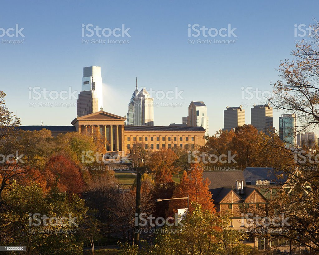 Philadelphia in Autumn stock photo
