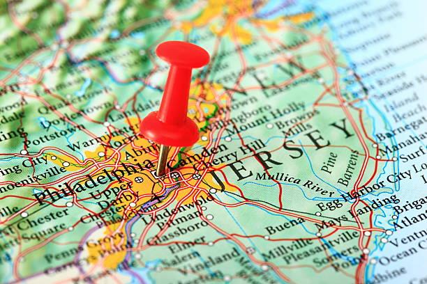 Karte von Philadelphia, New Jersey, USA – Foto